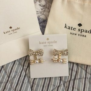 NEW! Kate Spade cat whiskers adjustable earrings!